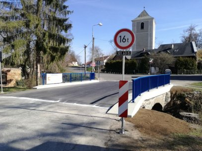 Tuklaty, oprava mostu