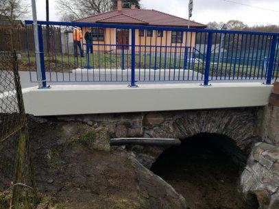 Skvrňov, oprava mostu